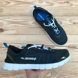 *New* Speedo Hybrid Watercross Men's Sizes 8 & 9 Black/Blue