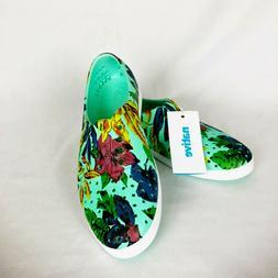NEW Native Jericho Glass Green Dayglo Printed Women's 5 Shoe