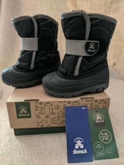 New KAMIK Kids Winter Snow Boots Black Toddler Size 7 US SNO