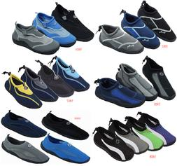 New Men's Athletic Mesh Water Shoes Aqua Socks Available In