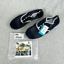 New Aleader Men's Size 14 Quick Drying Aqua Water Shoes Navy