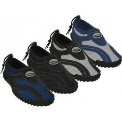 New Wave Mens Water Shoes/Aqua Socks/Pool Beach Surf Slip on