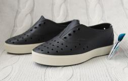 New NATIVE Miller Shoes Boys Jiffy Black/Bone White Slip On