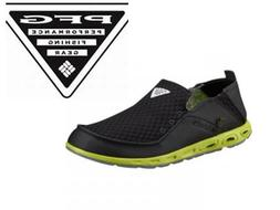 New Columbia PFG Fishing Boat Water Shoes Steel Black Relaxe