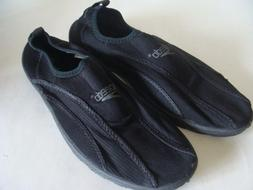 "NEW ""Speedo"" Surf Water Shoes Mens Size 8 Non-Skid Sole Blac"