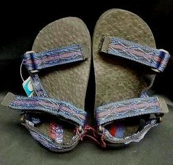 NEW PACIFIC REEF  WATER SANDALS- NAVY/RED ADJUSTABLE  STRAP
