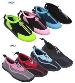 New Womens Slip on Water Shoes/Aqua Socks/Pool  Beach Yoga D