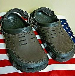 NEW! CROCS YUKON VISTA Brown Clogs Water Shoes Closed Toe Sl