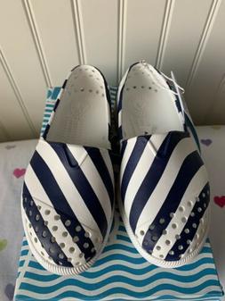 NIB NATIVE C 8 VERONA Water Shoes Shell White Regatta Stripe