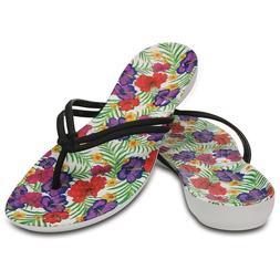 NWT Womens Crocs Isabella Graphic Flip Flops Sandals Water S