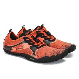SAGUARO Orange Men Water Shoes Surf Barefoot Hiking Trail Ru