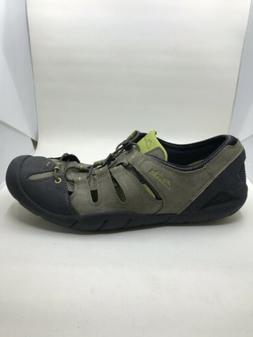 CLARKS Outfish Splash Green Nubuck Leather Water Shoes 11.5