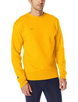 Champion Men's Powerblend Sweats Pullover Crew Team Gold M