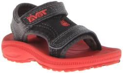 Teva Psyclone 3 T Water Shoe ,Black/Red,4 M US Toddler
