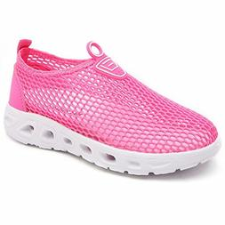 HOBIBEAR Girls Quick Dry Water Shoes Lightweight Slip-on Sne