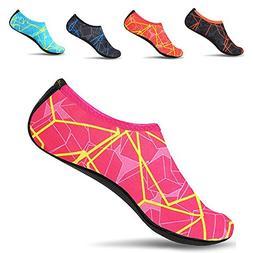 JACKSHIBO Men Women Quick-Dry Water Skin Shoes Aqua Socks fo