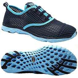 Aleader Women's Quick Drying Aqua Water Shoes, Blue 9 B US