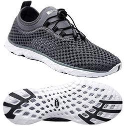 Zhuanglin Men's Quick Drying Aqua Water Shoes,Darkgrey%,10.5