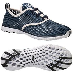 ALEADER Men's Quick Drying Aqua Water Shoes Blue 10.5 D US