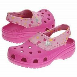 RARE CROCS Crocling Glam Girls/Womens Size 5 Water Shoes Pin