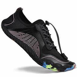Runfon Water Shoes for Women Barefoot Quick-Dry Aqua Shoes S