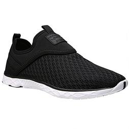 ALEADER Men's Slip-on Athletic Water Shoes Black 12 D US