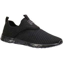 ALEADER Men's Slip-on Athletic Water Shoes Black/Blk 9.5 D U