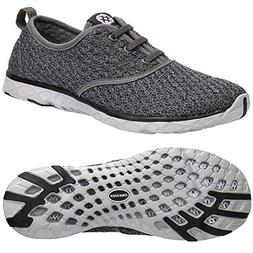 ALEADER Men's Stylish Quick Drying Water Shoes Gray 10 D US