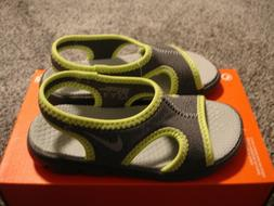 Nike Sunray 9 Gray Sandals Water Shoes Toddler Size 3 8 NEW