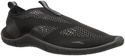 Speedo Men's Surf Knit Athletic Water Shoe, Black/Dark Gull