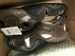 CROCS Swiftwater Leather Fisherman Water Shoes Sandals Espre