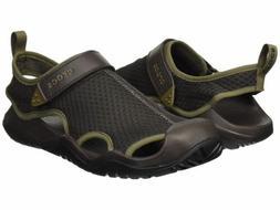 Crocs Swiftwater Mesh Deck Sandal Men's Espresso Brown Water