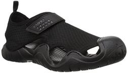Crocs Men's Swiftwater Sandal M Flat, black/black, 11 M US