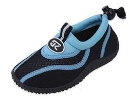 Sunville Toddler's Athletic Water Shoes Aqua Socks Blue 5 M