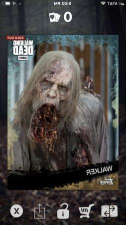 Topps Walking Dead Card Trader 10cc Reef Variant Walker DIGI
