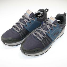 Skechers Trail Men All Terrain Navy Blue Shoes Water Repelle