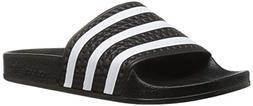 adidas Originals Unisex Adilette, White/Black, 6 M US Big Ki