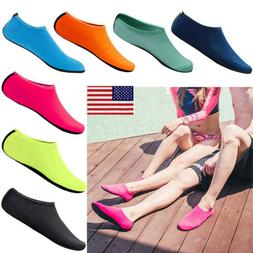 Unisex Barefoot Water Skin Aqua Socks Shoes For Surf Swim Be