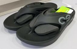 OOFOS Unisex OOriginal Sport Thong Flip Flop,Black/Black, M