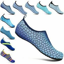 VIFUUR Unisex Quick Drying Aqua Water Shoes, Size US Women's