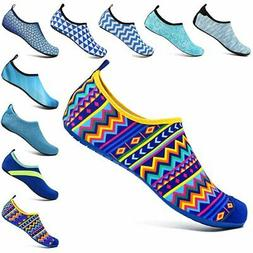VIFUUR Unisex Quick Drying Aqua Water Shoes Pool Beach Yoga