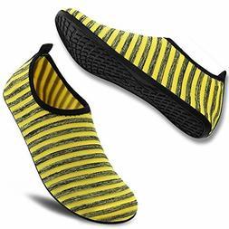 VIFUUR Unisex Quick Drying Aqua Water Shoes Pool Beach Yoga