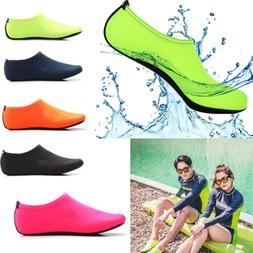 US Unisex Women Men Skin Water Shoes Beach Socks Swimming Yo