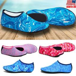 USA Men Women Water Shoes Aqua Sock Yoga Exercise Beach Danc