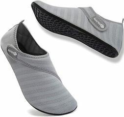 VIFUUR Womens Mens Water Shoes Adjustable Aqua Socks for Out