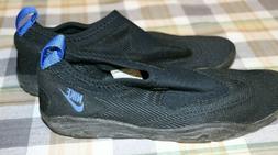 Vintage 90s NIKE Black & Blue Aqua Socks Water Shoes Men's S