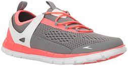 Speedo Women's The Wake Athletic Water Shoe, Grey/Neon Pink,