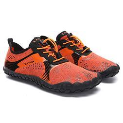 L-RUN Mens Womens Water Shoes for Beach Swim Orange Women_9.