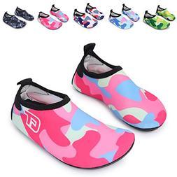 L-RUN Kids' Water Aerobic Shoes Barefoot Beach Pool Swim Aqu