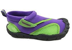 Fresko Kids Water Aqua Shoes With Toes, Girls G1023, Purple/